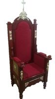 Кресло трон церковный архиерейский красный