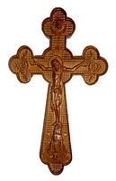 Крест резной напрестольный лакованый