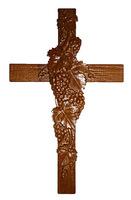 Крест напрестольный резной виноград