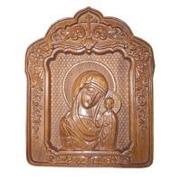 Резная икона Мария с Младенцем арка