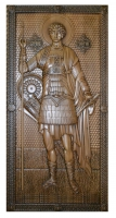 Резная икона Святой Георгий рост