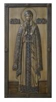 Резная икона Равноапостольная Княгиня Ольга