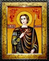 Янтарная икона Дмитрий Солунский