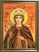 Янтарная икона Екатерина