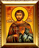 Янтарная икона Евгений