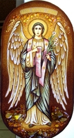 Янтарная икона Гавриил