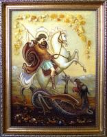 Янтарная икона Георгий (2)