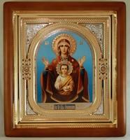 Икона Божьей Матери Знамение (26*23 см) 1