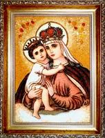 Янтарная икона Иерусалимская (15)