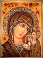 Янтарная икона Игоревская (26)