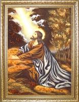 Янтарная икона Иисус на Оливковой горе (34)