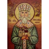 Икона из Янтаря Святой князь Ярослав