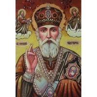 Икона из янтаря Николай Чудотворец