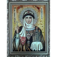 Икона из янтаря Праздники Княгиня Ольга