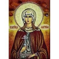 Икона из янтаря Праздники Лариса
