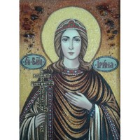Икона из янтаря Святая Ирина