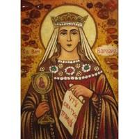Икона из янтаря Святая Варвара