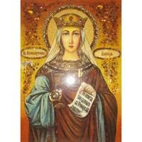 Икона из янтаря Святая Варвара (мощи)
