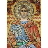 Икона из янтаря Святой Александр