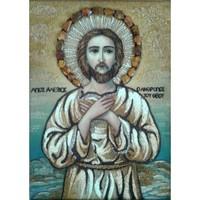 Икона из янтаря Святой Алексей