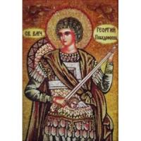 Икона из янтаря Святой Георгий