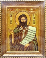 Янтарная икона Илья