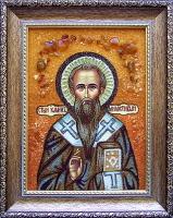 Янтарная икона Иоанн (2)