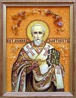 Янтарная икона Иоанн (4)