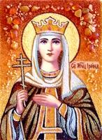 Янтарная икона Ирина