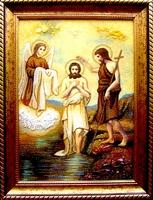 Янтарная икона Крещение (26)