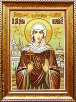 Янтарная икона Ксения 1