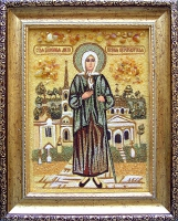 Янтарная икона Ксения 2