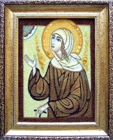 Янтарная икона Ксения 3