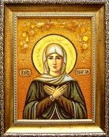 Янтарная икона Лилия