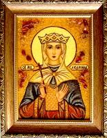 Янтарная икона Людмила (1)