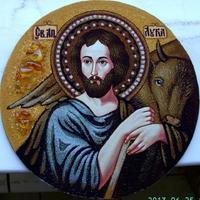 Янтарная икона Лука