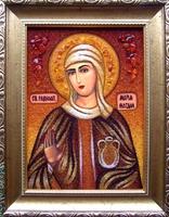 Янтарная икона Мария