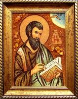 Янтарная икона Матвей