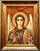 Янтарная икона Михаил (1)