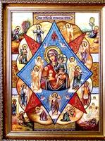 Янтарная икона Неопалимая Купина (27)