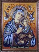 Янтарная икона Неустанной помощи (31)