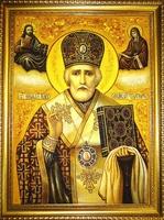 Янтарная икона Николай (1)