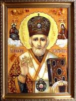 Янтарная икона Николай (2)