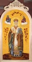 Янтарная икона Николай (4)