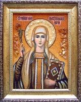 Янтарная икона Нина