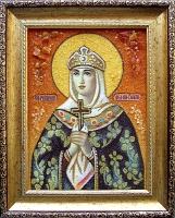Янтарная икона Ольга