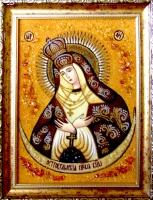 Янтарная икона Остробрамская (32)