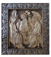 Резная икона Пресвятая Троица