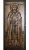Резная икона Преподобный Святой Сергей Радонежский