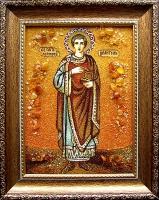 Янтарная икона Пантелеймон 1